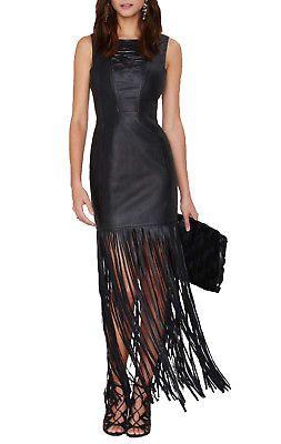sexy leather fringe dress