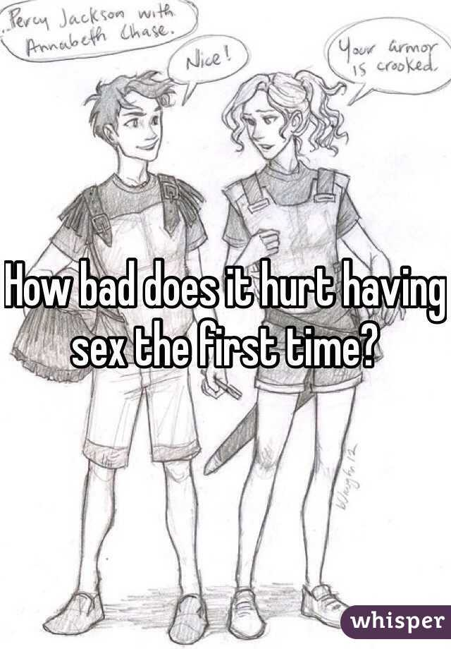 first time sex hurts