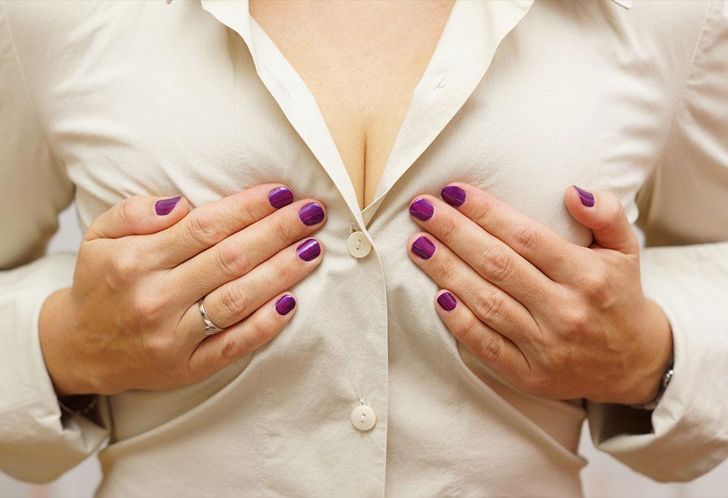 pregnant lactating breast photo milky