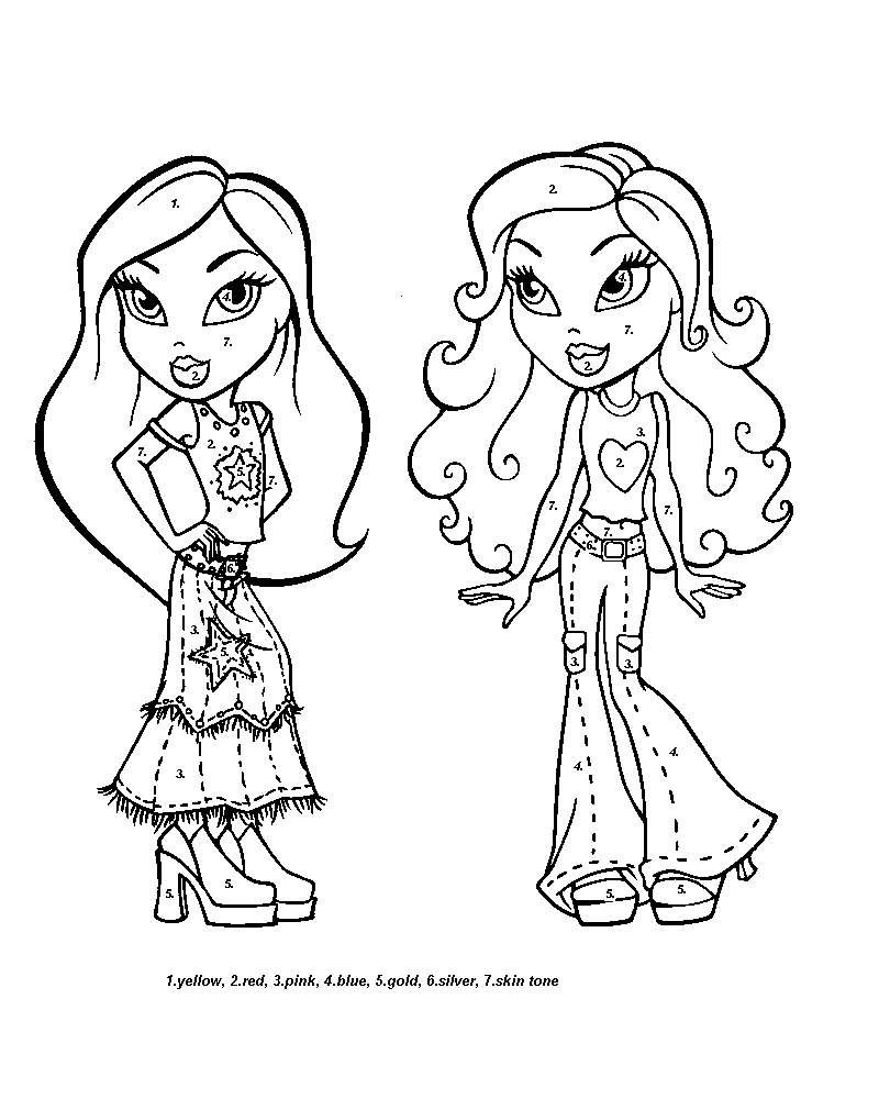 cartoon of printable girls pictures