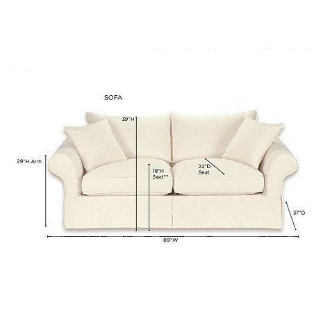sofa vintage vogue design slipcover ballard