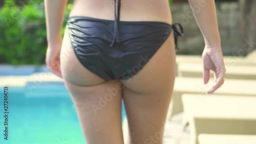 bikini wet thong butt