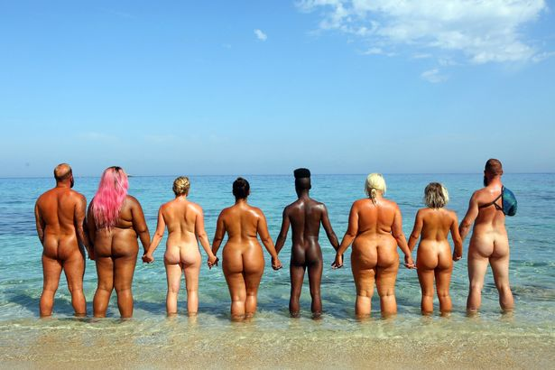 nude beach pic of