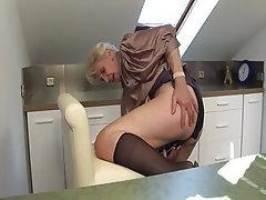 granny caught masturbating