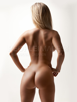 she is naked butt