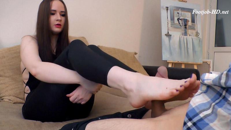 footjob bare huge feet