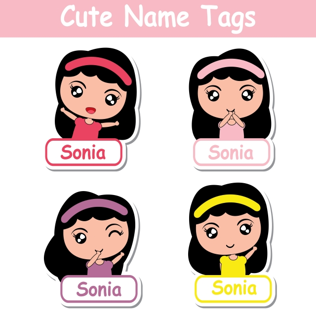 cartoon of girls pictures printable