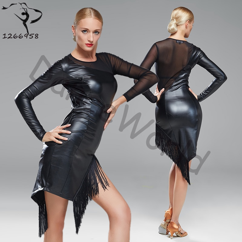 fringe leather dress sexy