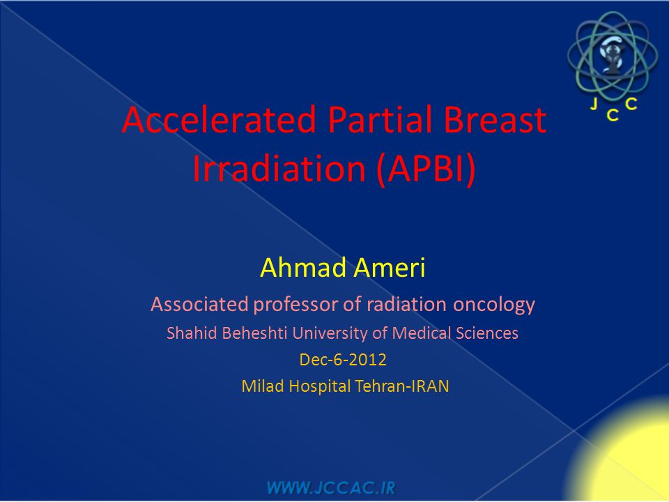 breast partial radiation accelerated