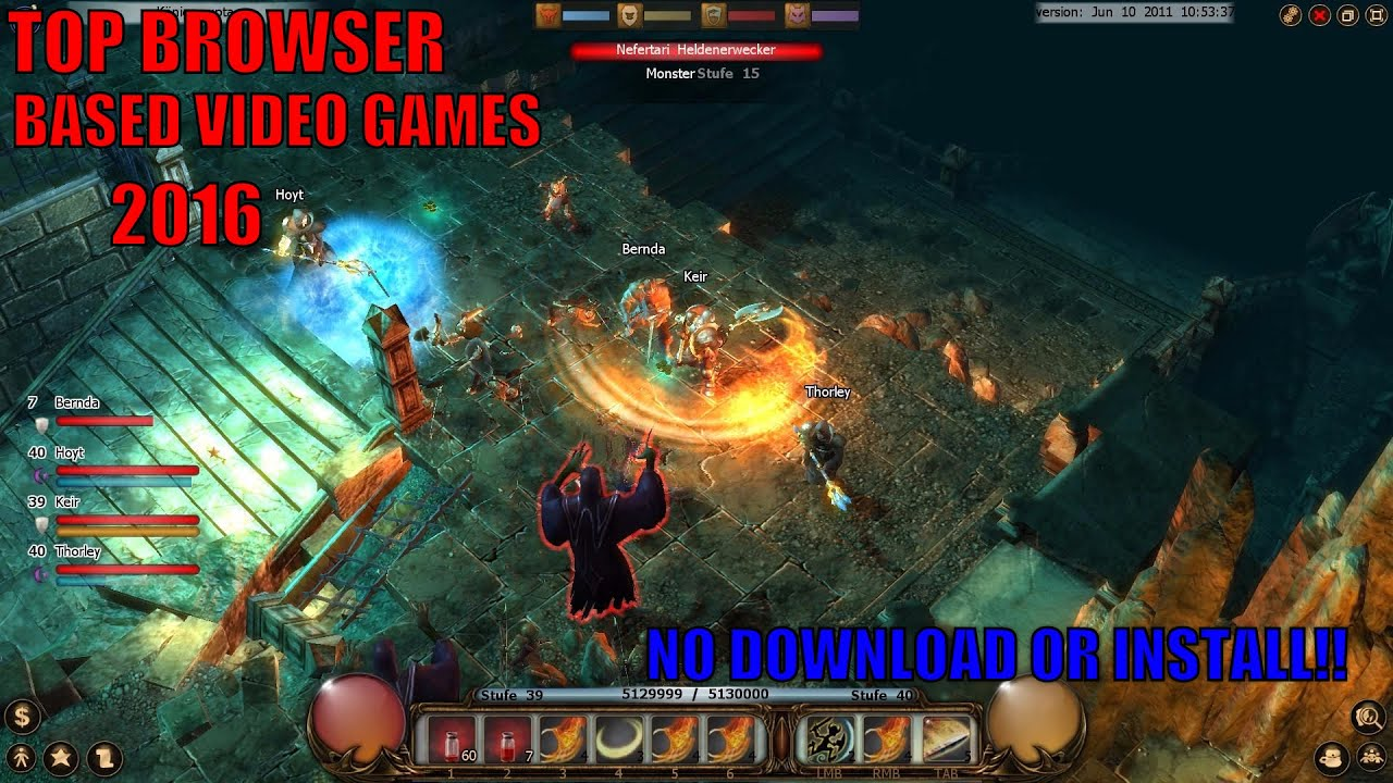 free browser games