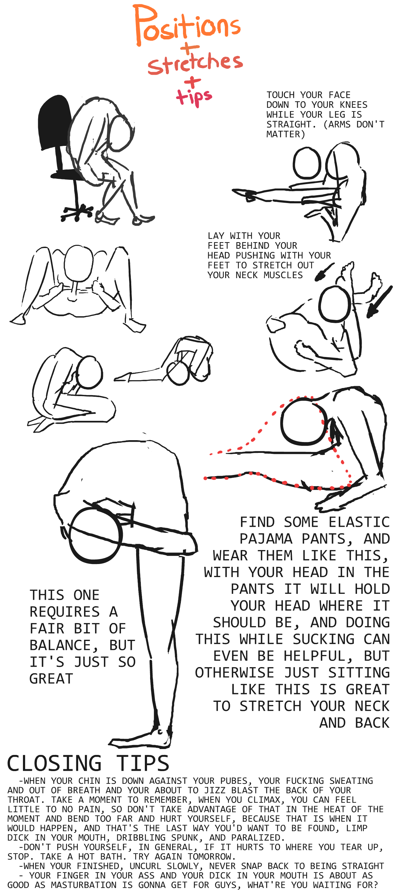 stretches self suck to