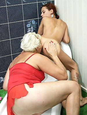 mature porn mom lesbian asslicking